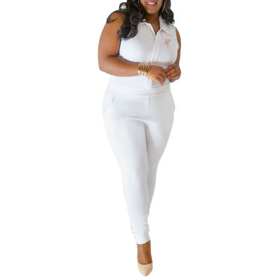 Poetic Justice Curvy French Terry Jumpsuit - Plus