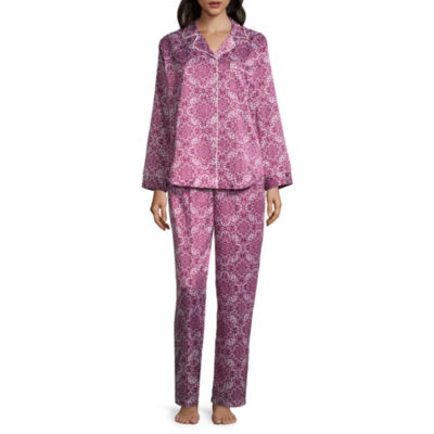 Collette By Miss Elaine 2-pack Floral Pant Pajama Set