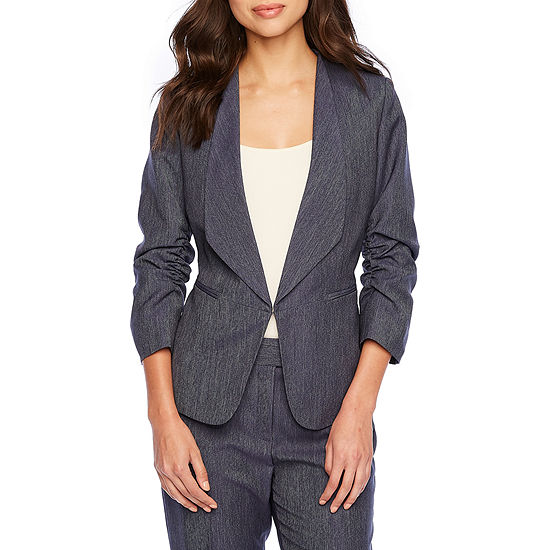 Chelsea Rose Ruched Sleeve Suit Jacket