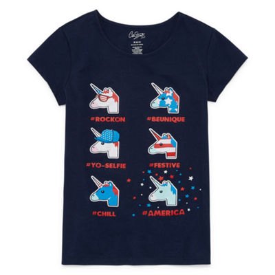 City Streets Short Sleeve Americana Graphic Tee - Girls' 4-16 & Plus