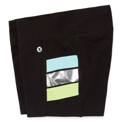 Xersion side Stripe Yoga Shorts Girls 4-16 and Plus
