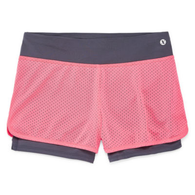 Xersion Pull On 2-for Shorts Girls 4-16 and Plus