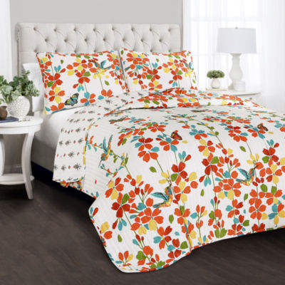 Lush Décor Weeping Flower Quilt Set