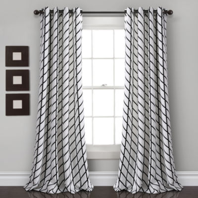 Lush Decor Feather Arrow Geo Room Darkening Window Curtain Panel Set