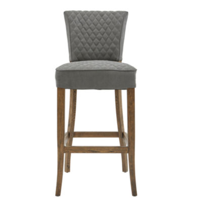 Diamond Quilted Linen Barstool