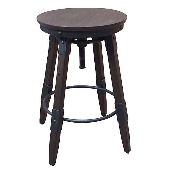 Vintage Industrial Style Swivel Backless Barstool