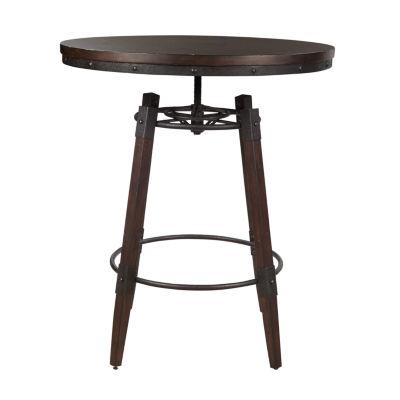 Vintage Industrial Style Adjustable Height Bar Table