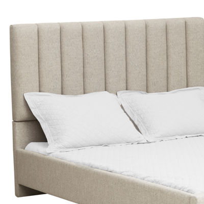 Vertical Channel Tufted Upholstered Bed