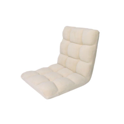 Loungie Microplush Modern Armless Quilted Recliner Chair With Foam Filling And Steel Tube Frame