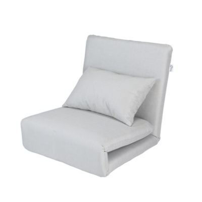 Loungie Relaxie Linen 5-Position Adjustable Convertible Flip Chair  Sleeper Dorm Bed Couch Lounger Sofa
