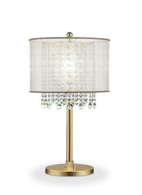 "Ore International 30"" Bhavya Crystal Table Lamp"