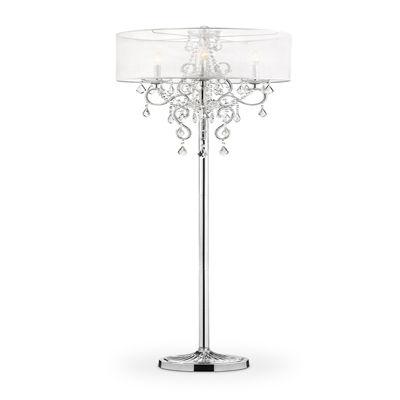 """Ore International 63"""" Evangelia Crystal Floor Lamp"""