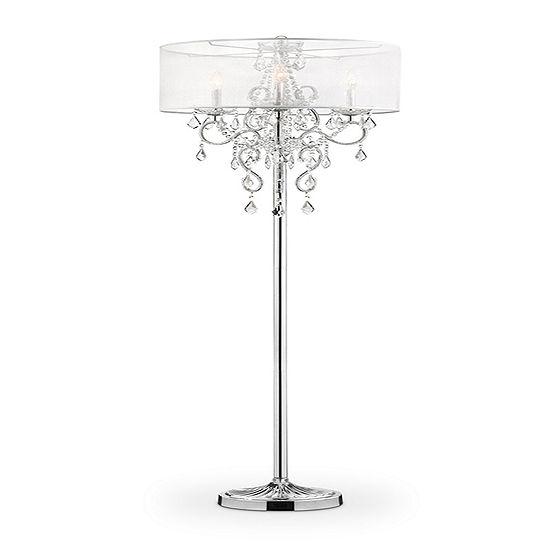 Ore International 63 Evangelia Crystal Floor Lamp