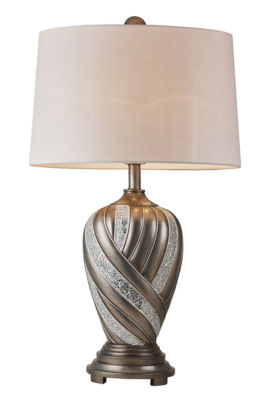 "Ore International 29.75"" Kairavi Silver Table Lamp"