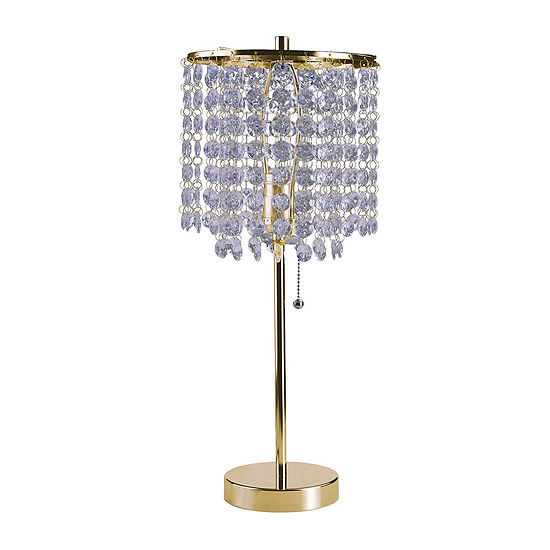 """Ore International 20.25"""" Deco Glam Gold Table Lamp"""