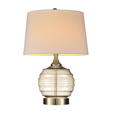 "Ore International 22.5"" Tuscan Sun Glass Table Lamp"""