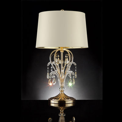 "Ore International 28.5"" Amoruccio Crystal Gold Table Lamp"