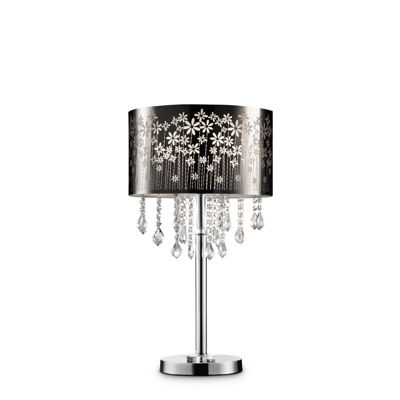 """Ore International 28.5""""H Floral Blooms Crystal Table Lamp"""
