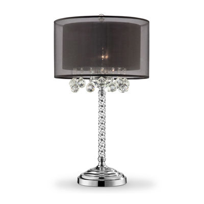 "Ore International 30"" Effleurer Crystal Table Lamp"
