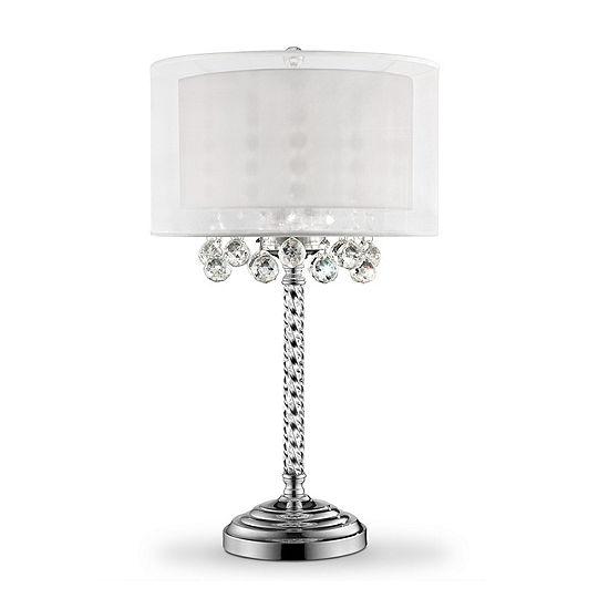 "Ore International 30"" Moiselle Crystal Table Lamp"