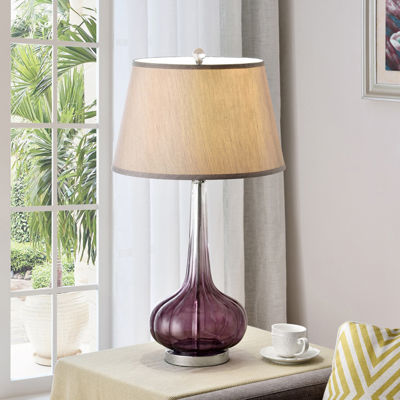 "Ore International 30"" Mulberry Glass Table Lamp"