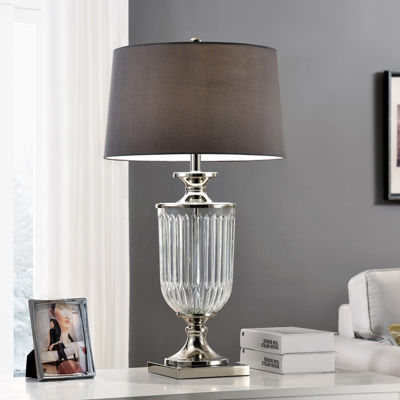 "Ore International 32.5"" Amelia Glass Table Lamp"