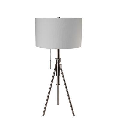 """Ore International 32.5""""- 37.5"""" Mid-Century Adjustable Tripod Table Lamp"""