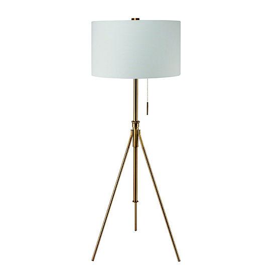 """Ore International 58"""" - 72""""H Mid-Century Adjustable Tripod Floor Lamp"""