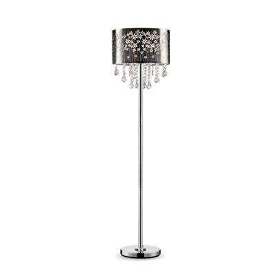 """Ore International 61.5""""H Floral Blooms Crystal Floor Lamp"""