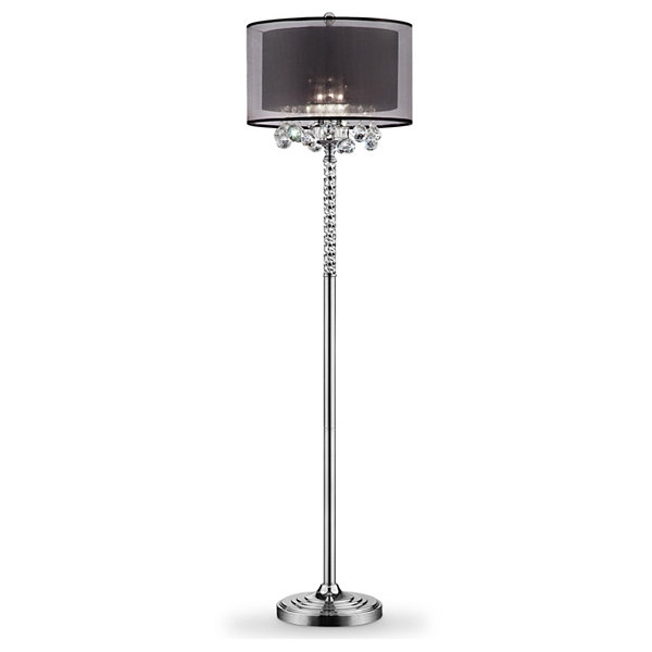 "Ore International 62.5"" Effleurer Crystal Floor Lamp"