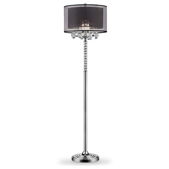 Ore International 625 Effleurer Crystal Floor Lamp