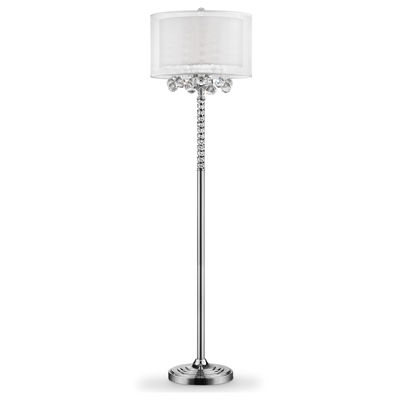 "Ore International 62.5"" Moiselle Crystal Floor Lamp"