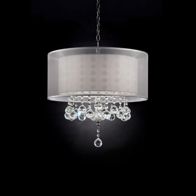 "Ore International 19"" Moiselle Crystal Ceiling Lamp"