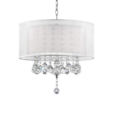 "Ore International 19"" Moiselle Crystal Ceiling Lamp"