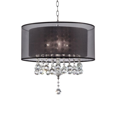 "Ore International 19"" Effleurer Crystal Ceiling Lamp"