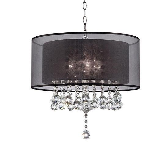 Ore International 19 Effleurer Crystal Ceiling Lamp