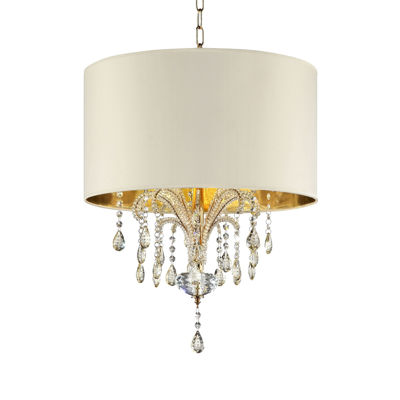 "Ore International 25"" Amoruccio Crystal Gold Ceiling Lamp"