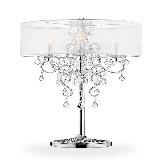 "Ore International 35"" Evangelia Crystal Table Lamp"