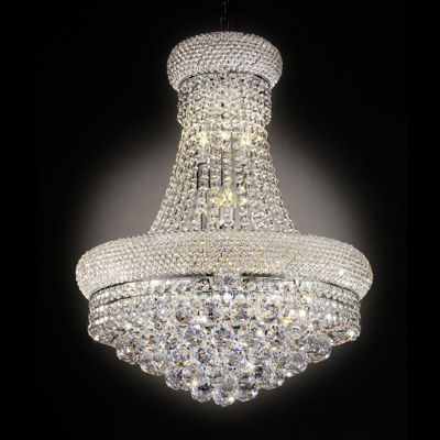"Ore International 26"" Adagio Empire Crystal Led Ceiling Lamp"