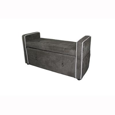 "Ore International 22"" Suede Shoe Storage Bench"