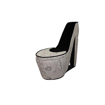 "Ore International 32.86"" Beige Old World High Heel Shoe with Storage"