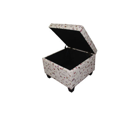 "Ore International 18.75"" Kid's Print Seating Ottoman with Storage"