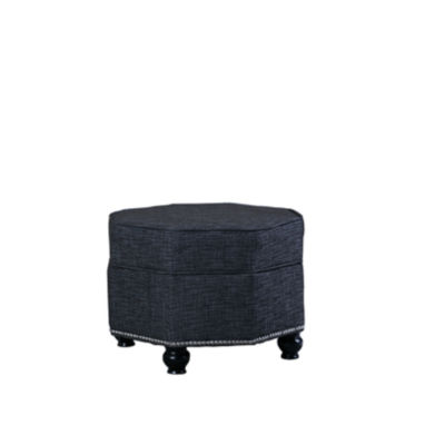 "Ore International 16.5"" Hexagon Storage Ottoman"