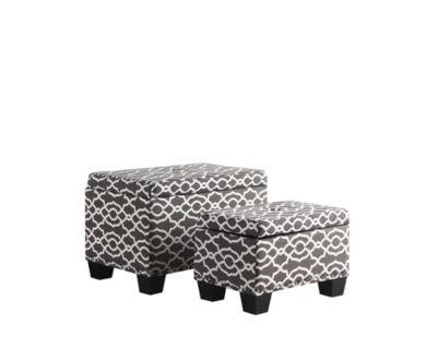 """Ore International 17"""" Trellis Storage Ottoman + 1Storage Seating"""
