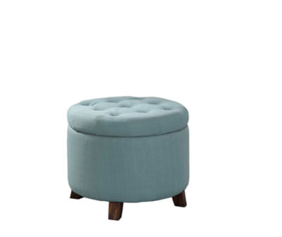 """Ore International 18"""" Tufted Storage Ottoman with Legs"""