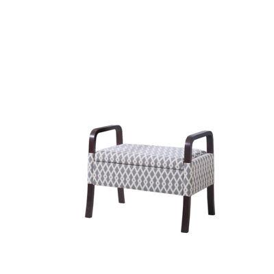 "Ore International 23"" Vanity Wooden Arm Storage Seat"