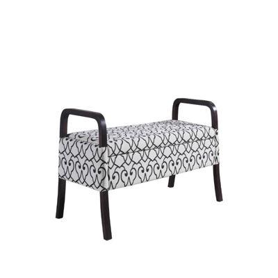 """Ore International 23.25"""" Wooden Arm Storage Bench"""