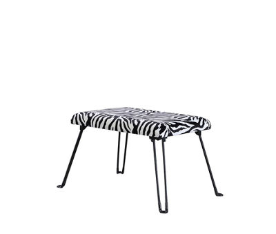 "Ore International 17"" Zebra Backless Accent Seat with Foldable Legs"