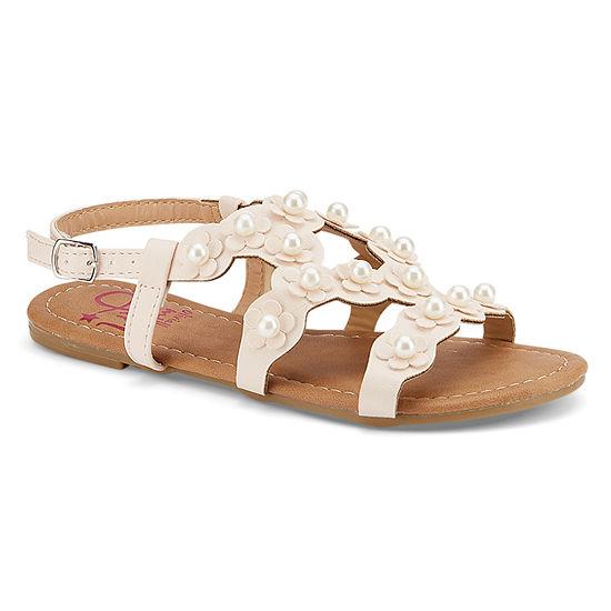 Olivia Miller Comte Girls Strap Sandals - Little Kids/Big Kids