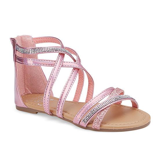 Olivia Miller Socca Girls Strap Sandals - Little Kids/Big Kids